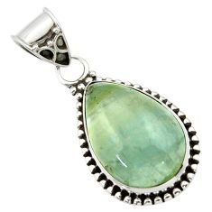 13.15cts aquatine lemurian calcite 925 sterling silver pendant jewelry r40229