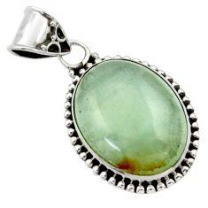 15.91cts aquatine lemurian calcite 925 sterling silver pendant jewelry r40232