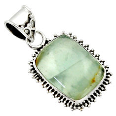 11.69cts aquatine lemurian calcite 925 sterling silver pendant jewelry r40238