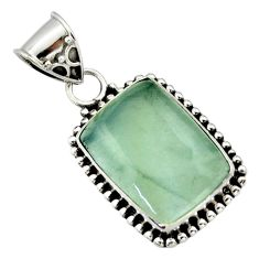 14.72cts aquatine lemurian calcite 925 sterling silver pendant jewelry r40239