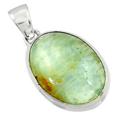 16.48cts aquatine lemurian calcite 925 sterling silver pendant jewelry r43202