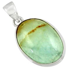 15.43cts aquatine lemurian calcite 925 sterling silver pendant jewelry r43203