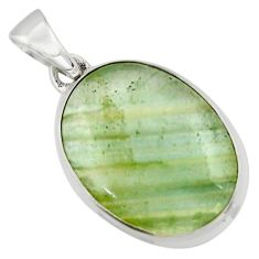 15.22cts aquatine lemurian calcite 925 sterling silver pendant jewelry r43206