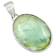 14.93cts aquatine lemurian calcite 925 sterling silver pendant jewelry r43207