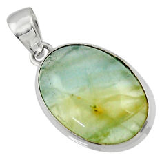 14.30cts aquatine lemurian calcite 925 sterling silver pendant jewelry r43213
