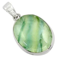 18.05cts aquatine lemurian calcite 925 sterling silver pendant jewelry r43214