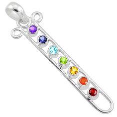 Balancing seven chakra mind body soul balance 925 silver pendant jewelry r65332