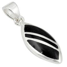 Black onyx enamel 925 sterling silver pendant jewelry a77504 c14768