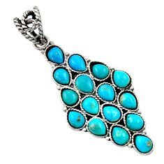15.65cts blue arizona mohave turquoise 925 sterling silver pendant d45466