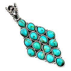 16.20cts blue arizona mohave turquoise 925 sterling silver pendant d45467
