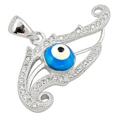 Blue evil eye talismans topaz 925 sterling silver pendant jewelry c20925