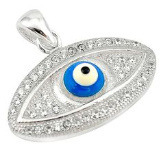 Blue evil eye talismans topaz 925 sterling silver pendant jewelry c20929