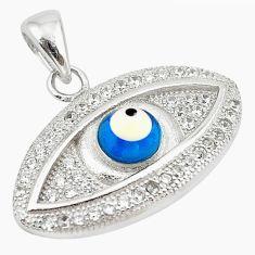 Blue evil eye talismans topaz 925 sterling silver pendant jewelry c20931