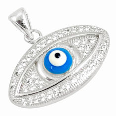 3.29cts blue evil eye talismans topaz 925 sterling silver pendant jewelry c21139
