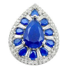 Blue sapphire quartz topaz 925 sterling silver pendant jewelry c19058