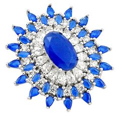 Blue sapphire quartz topaz 925 sterling silver pendant jewelry c19128