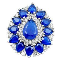 Blue sapphire quartz topaz 925 sterling silver pendant jewelry c19905