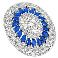 Blue sapphire quartz white topaz 925 sterling silver pendant jewelry c19845