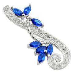 Blue sapphire quartz white topaz 925 sterling silver pendant jewelry c22133