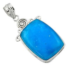 20.07cts blue smithsonite 925 sterling silver pendant jewelry r32077