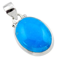 11.95cts blue smithsonite 925 sterling silver pendant jewelry r46522