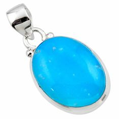 10.22cts blue smithsonite 925 sterling silver pendant jewelry r46523