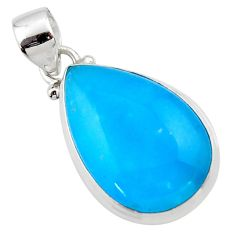12.68cts blue smithsonite 925 sterling silver pendant jewelry r46524