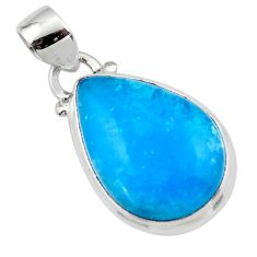 11.65cts blue smithsonite 925 sterling silver pendant jewelry r46526