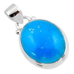 11.17cts blue smithsonite 925 sterling silver pendant jewelry r46527