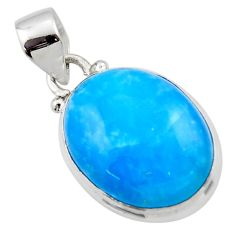 11.70cts blue smithsonite 925 sterling silver pendant jewelry r46529