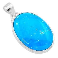 18.70cts blue smithsonite 925 sterling silver pendant jewelry t22781