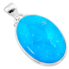 17.22cts blue smithsonite 925 sterling silver pendant jewelry t22788