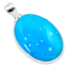 23.92cts blue smithsonite 925 sterling silver pendant jewelry t22790