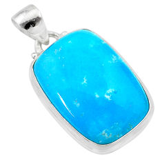 17.57cts blue smithsonite 925 sterling silver pendant jewelry t22792