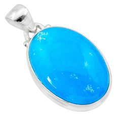 15.18cts blue smithsonite 925 sterling silver pendant jewelry t22795