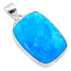 18.15cts blue smithsonite 925 sterling silver pendant jewelry t22798