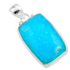 16.68cts blue smithsonite 925 sterling silver handmade pendant jewelry t42360