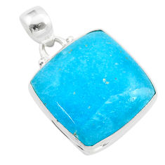 16.18cts blue smithsonite 925 sterling silver handmade pendant jewelry t42377