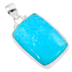 20.07cts blue smithsonite octagan 925 sterling silver pendant jewelry t42367