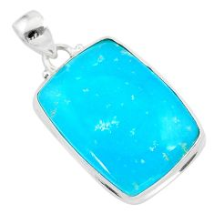 22.05cts blue smithsonite octagan 925 sterling silver pendant jewelry t42383
