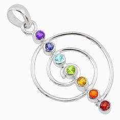 2.90cts cho-ku-rei-reiki chakra 925 silver healing energy balance pendant r65342