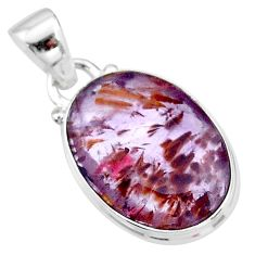 9.20cts faceted cacoxenite super seven (melody stone) 925 silver pendant t13047