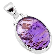 8.95cts faceted cacoxenite super seven (melody stone) 925 silver pendant t13048