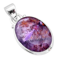 9.95cts faceted cacoxenite super seven (melody stone) 925 silver pendant t13052