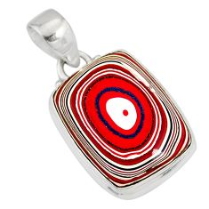 9.68cts fordite detroit agate 925 sterling silver pendant jewelry r77906