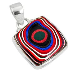 8.73cts fordite detroit agate 925 sterling silver pendant jewelry r77907