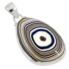 12.58cts fordite detroit agate 925 sterling silver pendant jewelry r77914