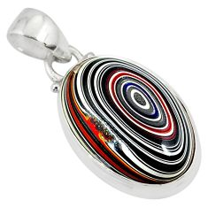 9.72cts fordite detroit agate 925 sterling silver pendant jewelry r77916