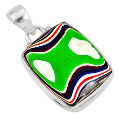 9.72cts fordite detroit agate 925 sterling silver pendant jewelry r77923