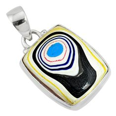 10.08cts fordite detroit agate 925 sterling silver pendant jewelry r77925